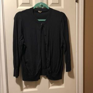 J. crew cardigan sweater in dark grey size xl